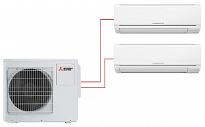 Мультисплит-система Mitsubishi Electric MSZ-DM25VA×2 / MXZ-2DM40VA